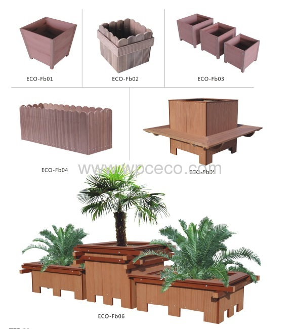 Outdoor Wpc Bulk Flower Pot