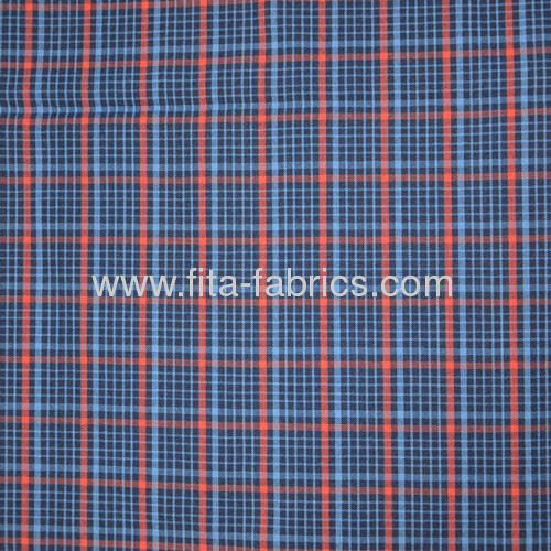 Polyester/cottonYarn-dyed checks fabric