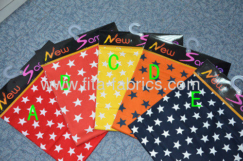 star printedsingle yarn drill fabricortwill