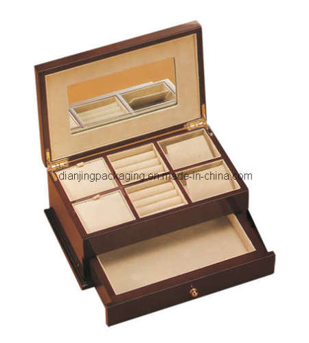 Multi-Functional Fashion Luxury Wooden Jewelry Box Gift Case