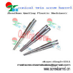hdpe extruder conical twin screw and barrel for extruder machine