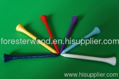 Disposable Wooden Colorful Golf Tee