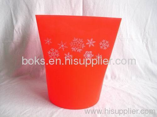 square plastic Christmas ice buckets