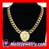 Wholesale Gold Plated Lion Head Chunky Chain Pendant Necklace