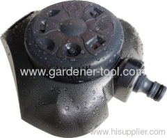 Metal 8-Pattern garden turret sprinkler