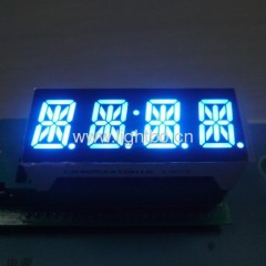 "Ultra Blue Custom Design 0.54"" 4-digit 14-segment LED Displays with package dimensions 50.4 x21.15 x 15 mm"