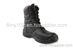 Leather safety working shoes / black genuine leather safety shoes S3