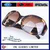 Tortoise branded plastic sunglasses frame with wide temple