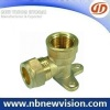 CNC Forged Brass Fitting with Flange
