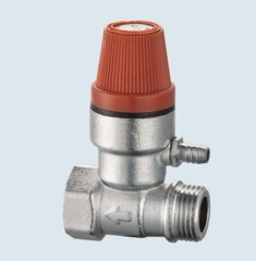J-202 temperature and pressure brass safety valve