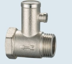 J-203 brass safety valve for hot water systems
