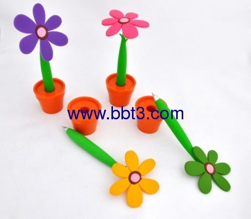 Promotional flower shape plastic ballpen
