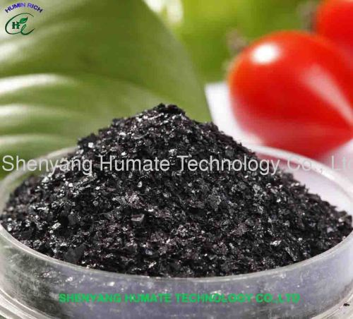Potassium Humate Shiny Flakes (100% water soluble)