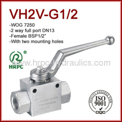 hydraulic female BSP thread ball valve with mounting holes high pressure 7250psi two way internal thread