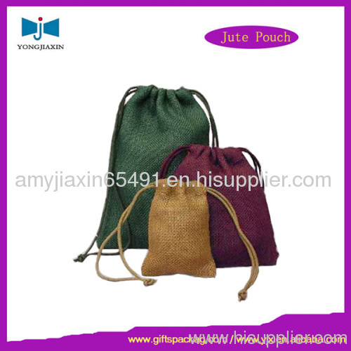 Jewelry packing jute drawstring bag