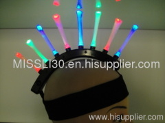 Rainbow Flashing Mohawk LED headwear