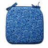 comfortable soft blue seat cushion
