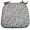 grey flower seat cushion