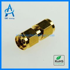 2.92mm to 2.4mm adapter 40GHz VSWR 1.20max gold plated male to male A29M24M0G