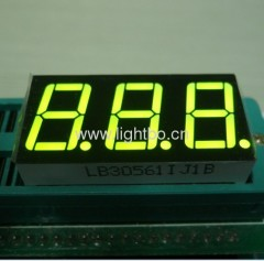 Super Bright Green 0.56 inches 3-digit 7-segment LED Display for instrument panel / digital indicator