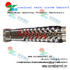 china double and twin screws and barrels conical for PP PVC ABS pipe extruder screw barrel