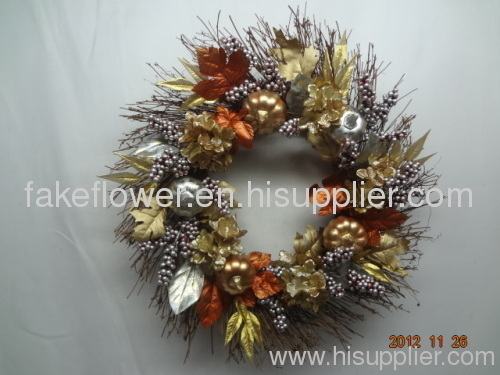 artificial flower wreath/artificial christmas wreath