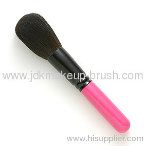 Latest Fashion Shiny Pink wooden Handle Goat Hair Powder Brush