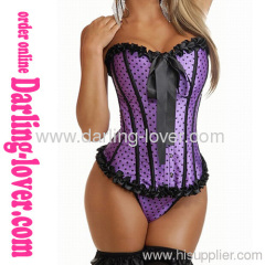 Sexy Purple Dot Fashion Corset