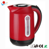 Red color plastic cordless electric kettle