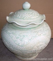 Antique chinese carved jar