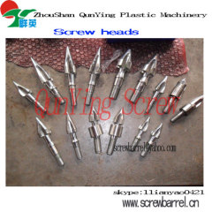 injection screw head tip for screw barrel