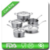 9Pcs European Style Stainless Steel cookware
