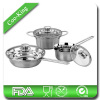 Glass Lid 6Pcs Stainless Steel Italian Cookware