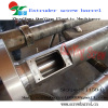 Bimetallic screw barrel for blowing film extruder