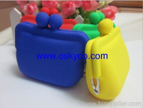 cheap silicone coin mini purses wallet