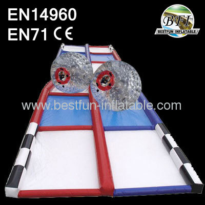 C4 75' Criss Cross Collision Course, Inflatable Race Track