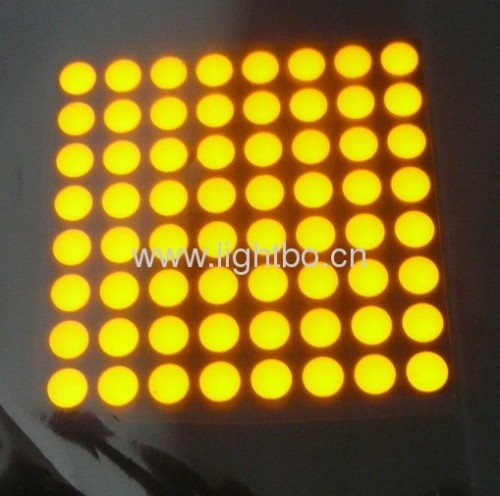 "Ultra Bright Amber 2.0"" 5mm 8 x 8 dot matrix led display for moving signs,traffic message boards,quene systems"