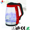 Electric glass kettle GS CE ROHS 1.8L ,Red Handle