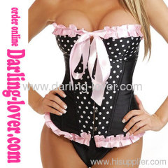 Sexy Fashion Dot Ovebust Corset