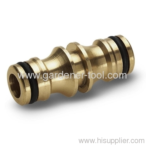 Brass 2-way quick joint hose connector