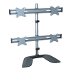 Two level four panels aluminum desk mount bracket