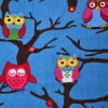 lucky Owl Printed Corduroy Fabric