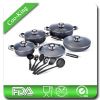 16PCS aluminum non stick cookware set