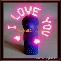 Mini led Ventilator-Colorful fan, Nice looking.led message min fan
