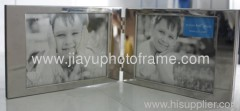 Foldable double Silver Plated Photo Frames