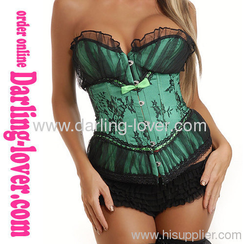 Hot Sale Green Sexy Corset