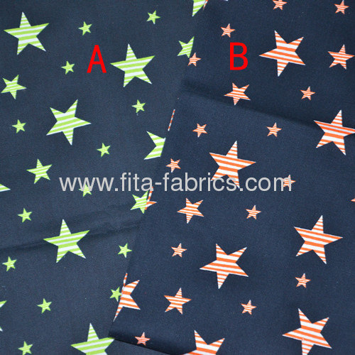 Star printed cotton fabric or twill-woven fabric