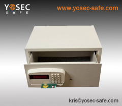 Front opening drawer safes with credit card safe lock