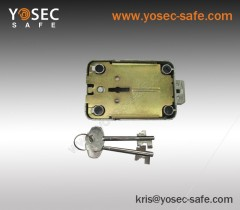 Key operated Mechanical Vault door lock with double bit key