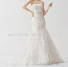 2013 Strapless Beaded Embroidery Mermaid Wedding Dresses Bride Dresses Wonderful Party Gown